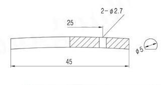 Rebaixador de cordas cromado para guitarra tipo barra 45mm (HS513)  - Luthieria Brasil