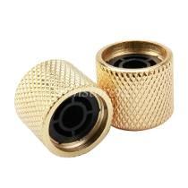 Knob Metal Dourado de Pressão (Encaixe)  - Luthieria Brasil
