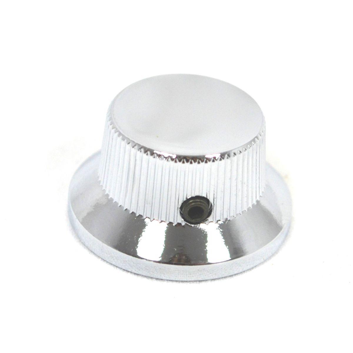 Knob Metal (Tipo Sino) Cromado c/ Parafuso Allen  - Luthieria Brasil