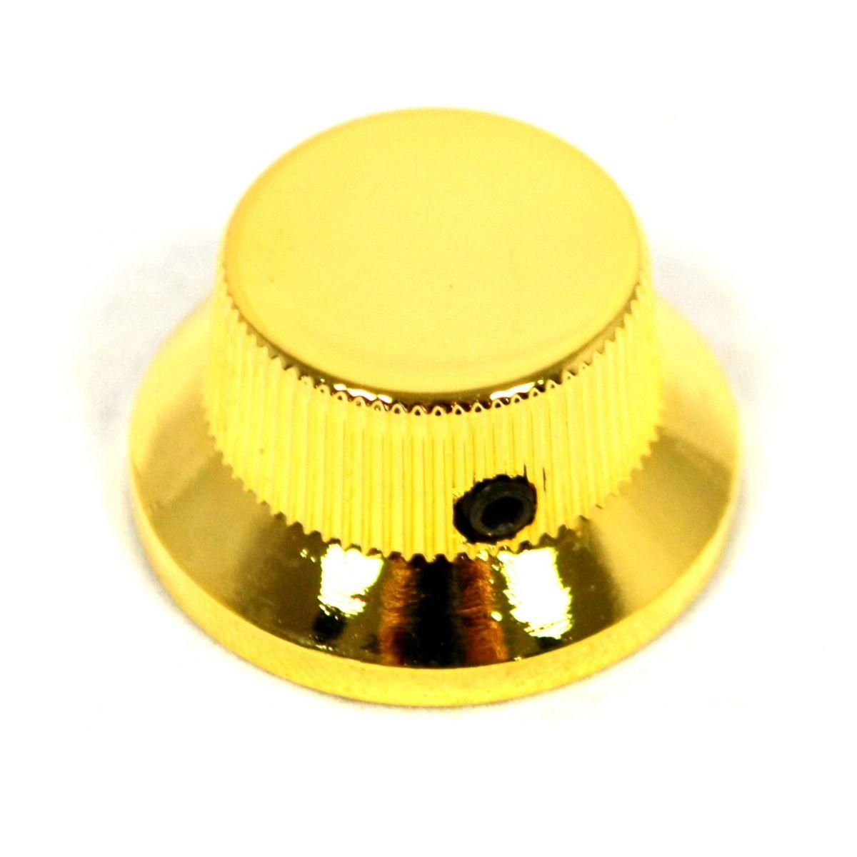 Knob Metal (Tipo Sino) Dourado c/ Parafuso Allen  - Luthieria Brasil