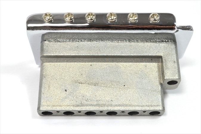 Ponte Cromada Tremolo 2 pivôs para Guitarra (Bloco 36 mm) - Spirit (TM6-CR)  - Luthieria Brasil