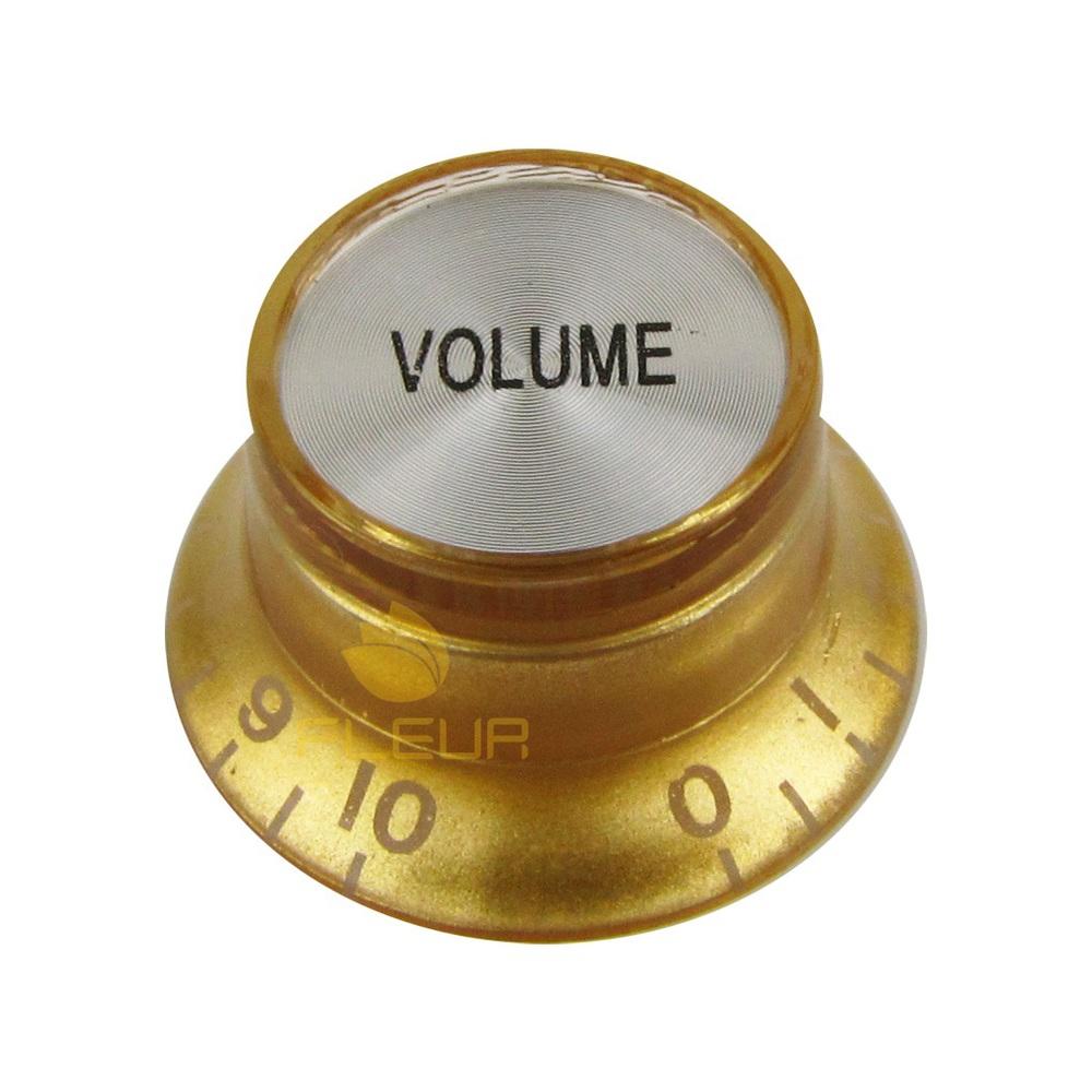 Knob Plástico Dourado com topo Prata P/ Guitarra SG - Volume  - Luthieria Brasil