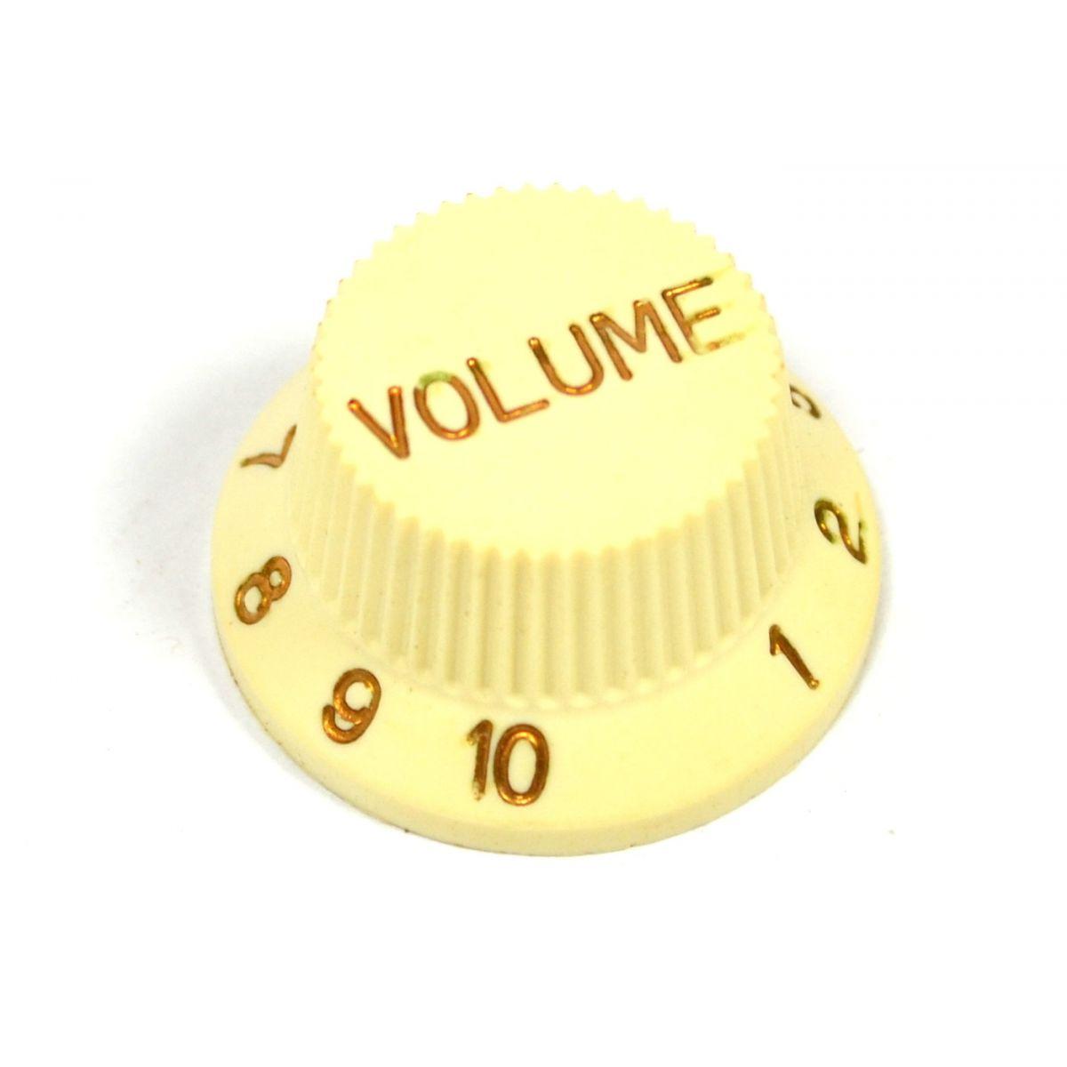 Knob Creme (Modelo 3) P/ Guitarra Strato - Volume  - Luthieria Brasil