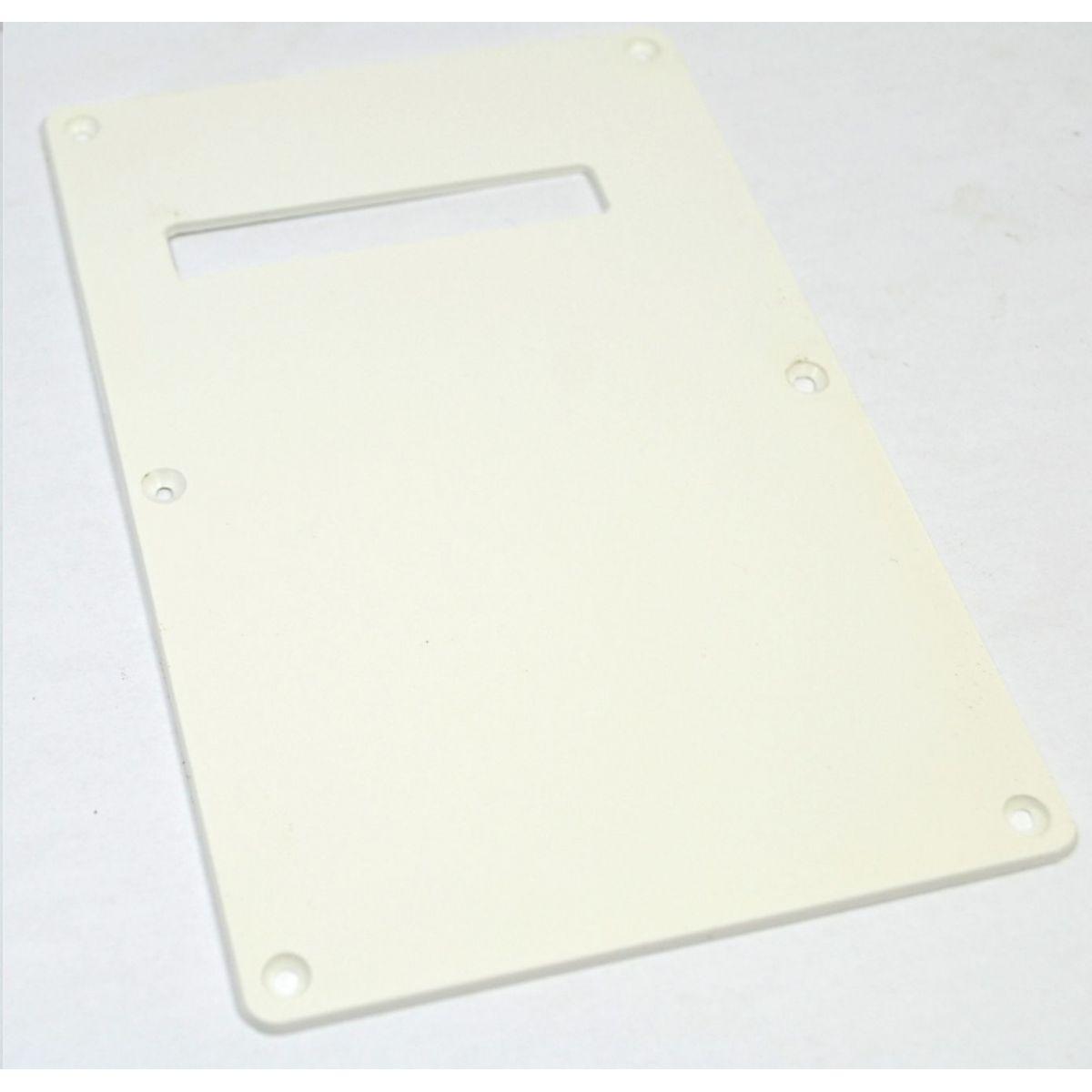 Escudo traseiro (back plate) branco com 1 furo de plástico p/ guitarra - Sung Il (SBC 15)  - Luthieria Brasil