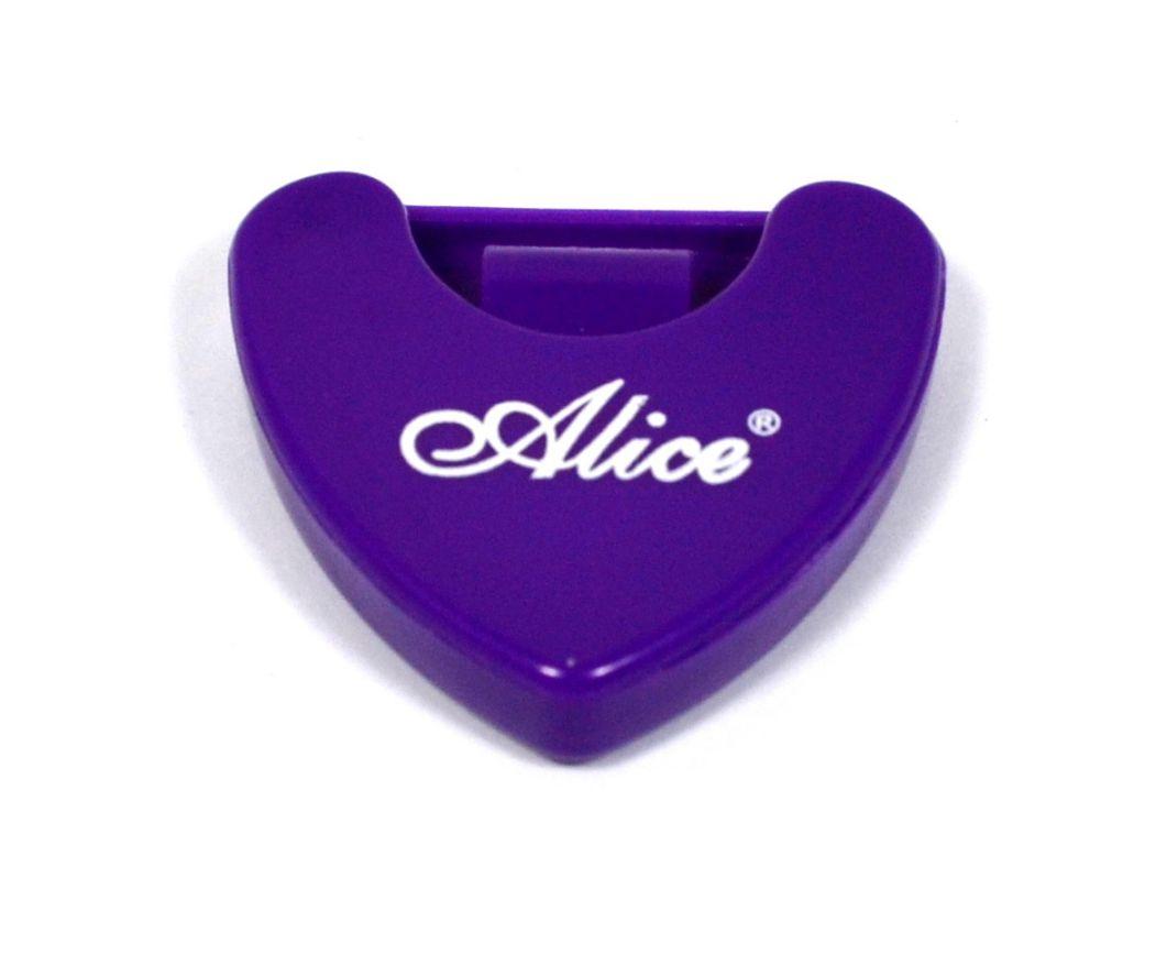 Porta palheta auto-adesivo de plástico para instrumentos de corda - Cor roxa - Alice (A010A)  - Luthieria Brasil