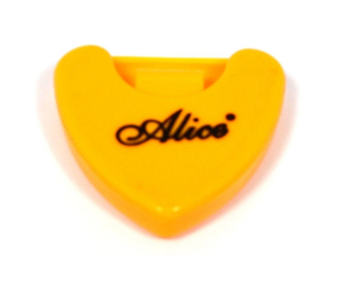 Porta palheta auto-adesivo de plástico para instrumentos de corda - Cor amarela - Alice (A010A)  - Luthieria Brasil