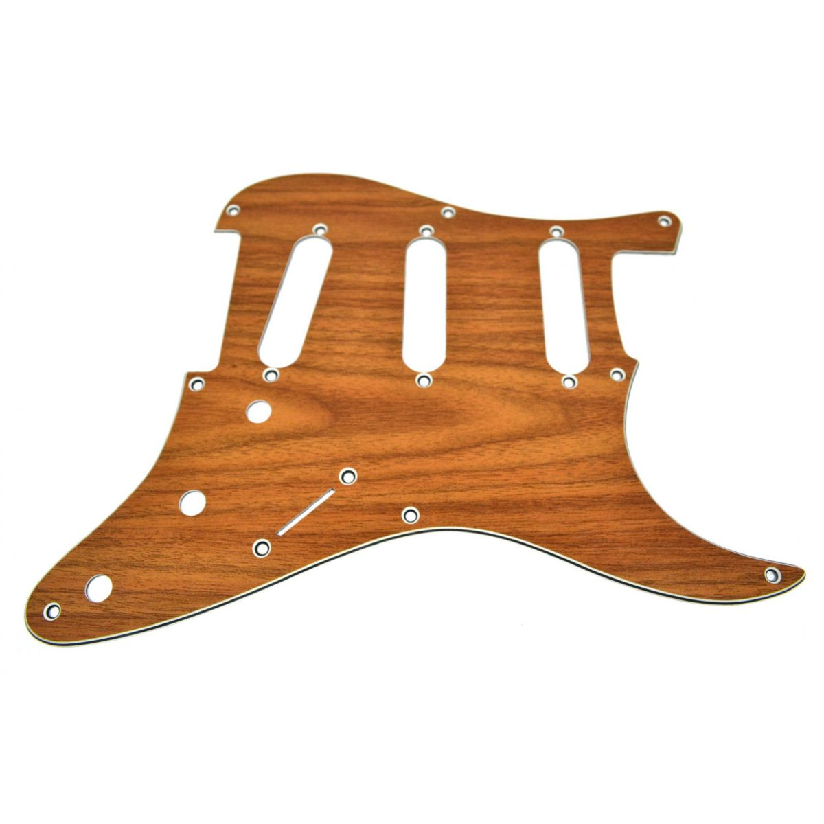 Escudo para Guitarra Stratocaster SSS Walnut - 3 camadas (sanduíche) - Spirit (X090)  - Luthieria Brasil