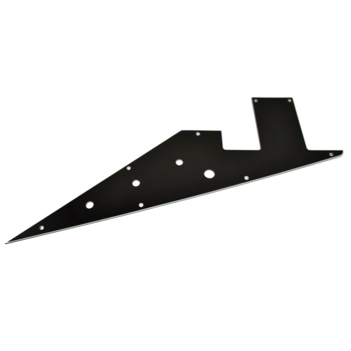 Escudo para Guitarra Flying V Preto - HH - 3 camadas (sanduíche) - Spirit (X522)  - Luthieria Brasil