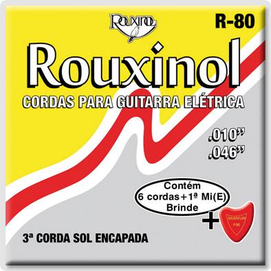 Encordoamento Rouxinol R-80 para guitarra 10-46 (.010)  - Luthieria Brasil