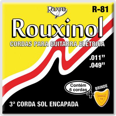 Encordoamento Rouxinol R-81 para guitarra 11-49 (.011)  - Luthieria Brasil