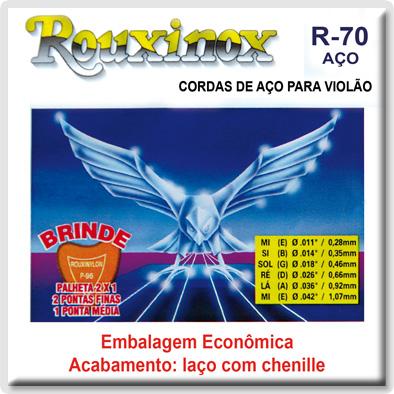 Encordoamento Rouxinol R-70 para Violão Aço (Linha Econômica)  - Luthieria Brasil