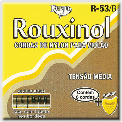 Encordoamento Rouxinol R-53/B para Violão Nylon (Tensão Média)  - Luthieria Brasil