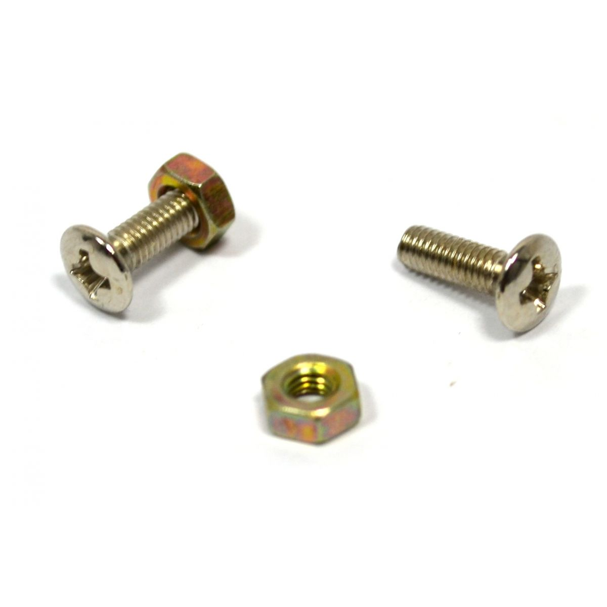 Parafuso cromado para escudo (Les Paul) (10mm x 3mm) - Kit c/ 2 peças  - Luthieria Brasil
