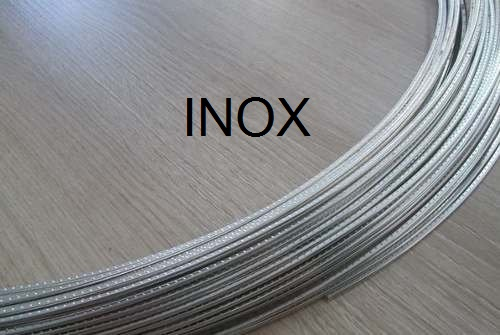 Traste INOX Spirit médio/jumbo para violão/guitarra/baixo - FR27SS - 1,0mm (altura) x 2,7mm (largura) x 1 metro  - Luthieria Brasil
