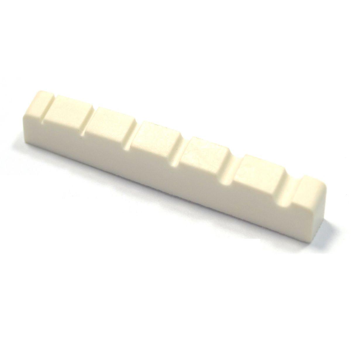 Nut de plástico cor branca para Baixo 6 cordas (53.9mm x 5.9mm x 8.9/8mm)  - Luthieria Brasil
