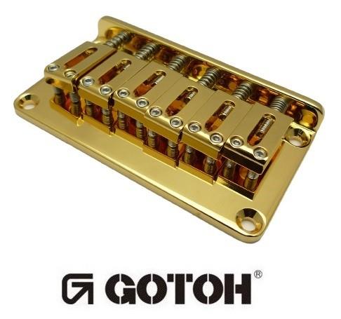 Ponte Dourada Fixa para guitarra - Gotoh (GTC102-GD)  - Luthieria Brasil