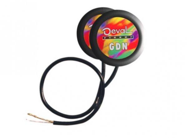 Captador de contato duplo passivo para instrumentos de corda - Nylon -  Deval (Modelo GDN)  - Luthieria Brasil