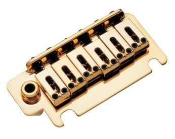 Ponte Dourada estilo Stratocaster para guitarra (Bloco 40mm) - Sung-il (BS084)  - Luthieria Brasil
