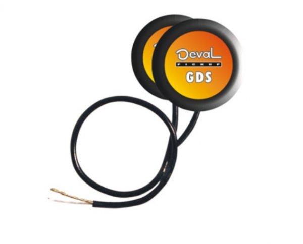 Captador de contato duplo passivo com volume para instrumentos de corda - Aço -  Deval (Modelo GPDA)  - Luthieria Brasil