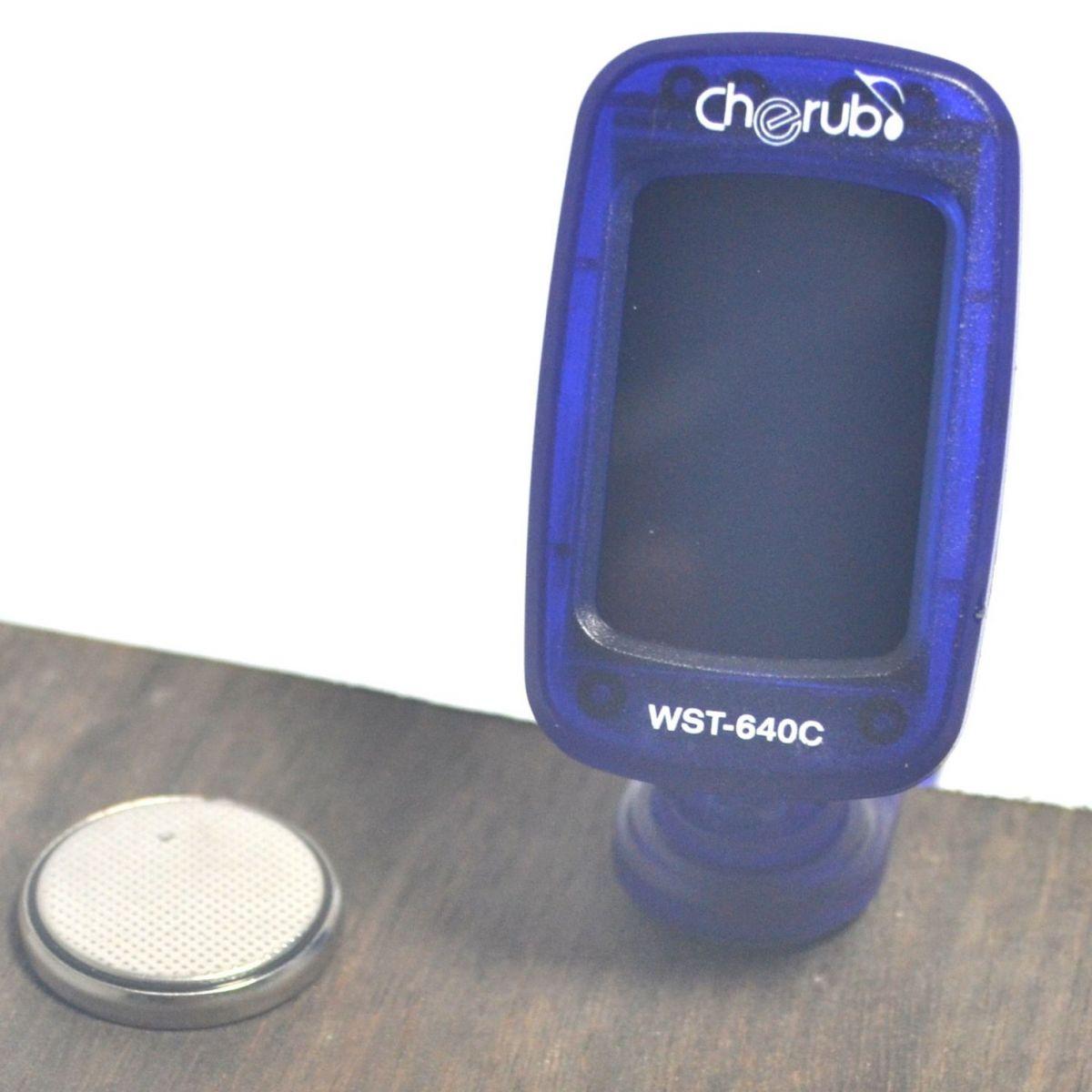 Afinador Cromático C/ Clip - WST-640C - Cherub  - Luthieria Brasil