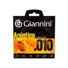 Encordoamento Giannini GESWAM Série Acústico para Violão Aço (.010)  - Luthieria Brasil