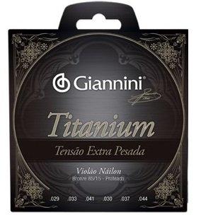 Encordoamento Giannini GENWXTA  Série Titanium Tensão Extra Pesada para Violão Nylon  - Luthieria Brasil