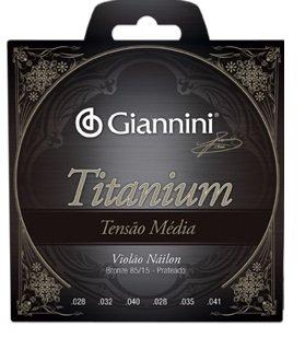 Encordoamento Giannini GENWTM Série Titanium Tensão Média para Violão Nylon  - Luthieria Brasil