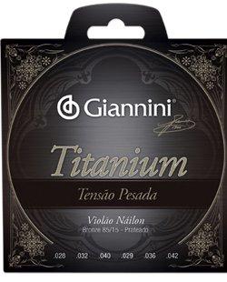 Encordoamento Giannini  GENWTA Série Titanium Tensão Pesada para Violão Nylon  - Luthieria Brasil