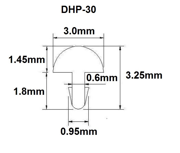 Traste DHP extra jumbo para guitarra/baixo - 1,45mm (altura) x 3,0mm (largura) x 1 metro (DHP-30)  - Luthieria Brasil