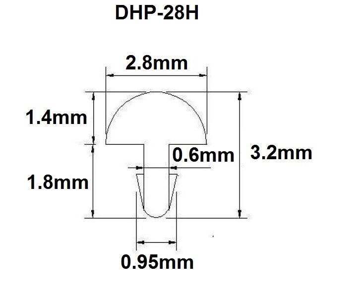 Traste DHP-28H extra jumbo para violão/guitarra/baixo - 1,4mm (altura) x 2,8mm (largura) x 1 metro (metro)  - Luthieria Brasil
