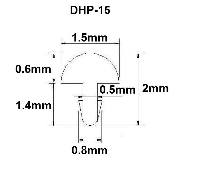 Traste DHP-15 fino para cavaco/banjo/bandolim - 0,6mm (altura) x 1,5mm (largura) x 1 metro (metro)  - Luthieria Brasil