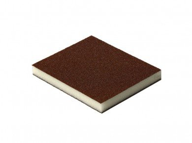 Esponja abrasiva marrom (Grão 120) (Óxido de Alumínio)  - Luthieria Brasil