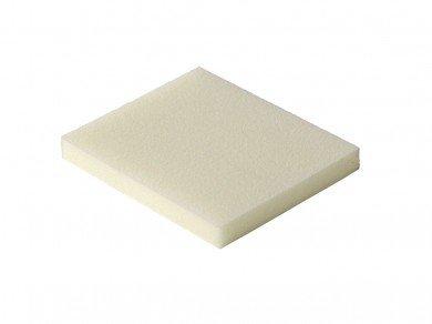 Esponja abrasiva branca (Grão 80) (Óxido de Alumínio Branco)  - Luthieria Brasil