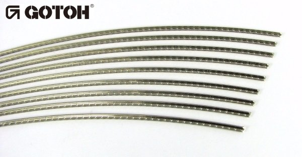 "Traste Sanko ""by Gotoh"" fino para cavaco/bandolim - SBU23 - 0,85mm (altura) x 1,1mm (largura) - Vareta curvada de 60cm  - Luthieria Brasil"