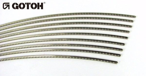 "Traste Sanko ""by Gotoh"" médio para violão/cavaco/bandolim - SBB217 - 1,1mm (altura) x 2,0mm (largura) - Vareta curvada de 60cm  - Luthieria Brasil"