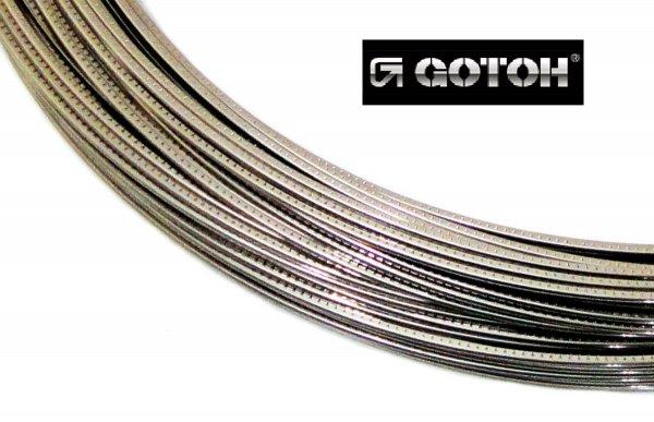 """Traste Sanko """"by Gotoh"""" médio para violão/guitarra/baixo - SBB214 - 1,2mm (altura) x 2,4mm (largura) - Rolo com 3 metros  - Luthieria Brasil"""