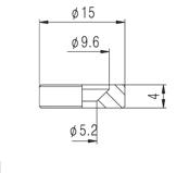 Buchas douradas para fixação do braço de guitarra/baixo (Modelo 3) - Kit com 4 peças  - Luthieria Brasil
