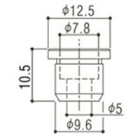 Buchas inferiores douradas para baixo (modelo TLB-2) - Gotoh - Kit com 6 peças  - Luthieria Brasil