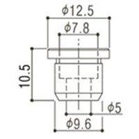 Buchas inferiores cromadas para baixo (modelo TLB-2) - Gotoh - Kit com 6 peças  - Luthieria Brasil
