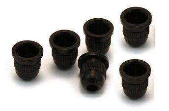 Buchas inferiores pretas para contrabaixo (padrão 1) - Kit com 6 peças  - Luthieria Brasil