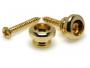 Roldana pequena dourada para correia de cavaquinho - Kit com 2 unidades