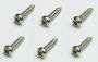 Parafuso cromado para tarraxa (8mm x 2,1mm) - Kit 06 peças