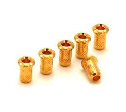 Buchas superiores douradas para guitarra - Kit com 6 peças  - Luthieria Brasil