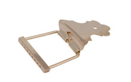 Afirmador de corda (Cordal) dourado para bandolim - Deval (Modelo 904G)  - Luthieria Brasil