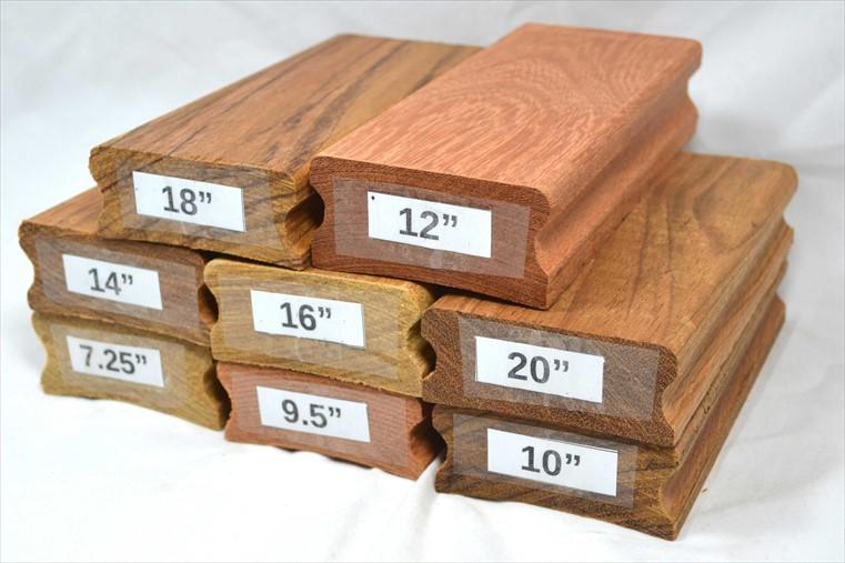 """Kit de Tacos de raiar escala (8 unidades) com os raios 7.25"""", 9.5"""", 10"""", 12"""", 14"""",16"""", 18"""" e 20"""" (Economize 6%)  - Luthieria Brasil"""