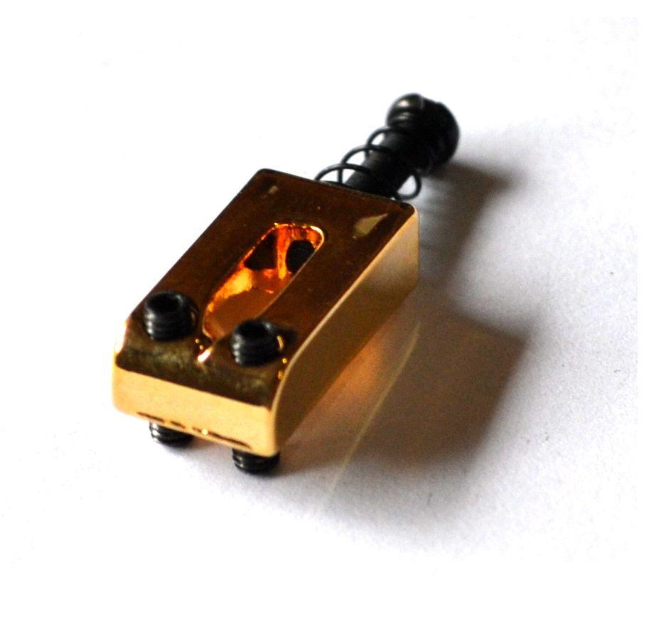 Carrinhos (saddles) dourados para guitarra - Espaçamento 10.8mm - Kit com 6 peças - Sung-il (PS006)  - Luthieria Brasil
