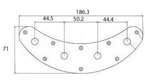 Control Plate de metal cromado para contrabaixo Music Man (HC005)  - Luthieria Brasil