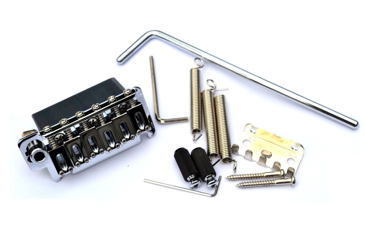 Ponte Cromada estilo Stratocaster para guitarra (Bloco 40mm) - Sung-il (BS084)  - Luthieria Brasil
