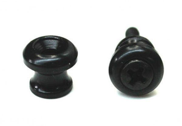 Roldana pequena preta para correia de cavaquinho - Kit com 2 unidades  - Luthieria Brasil