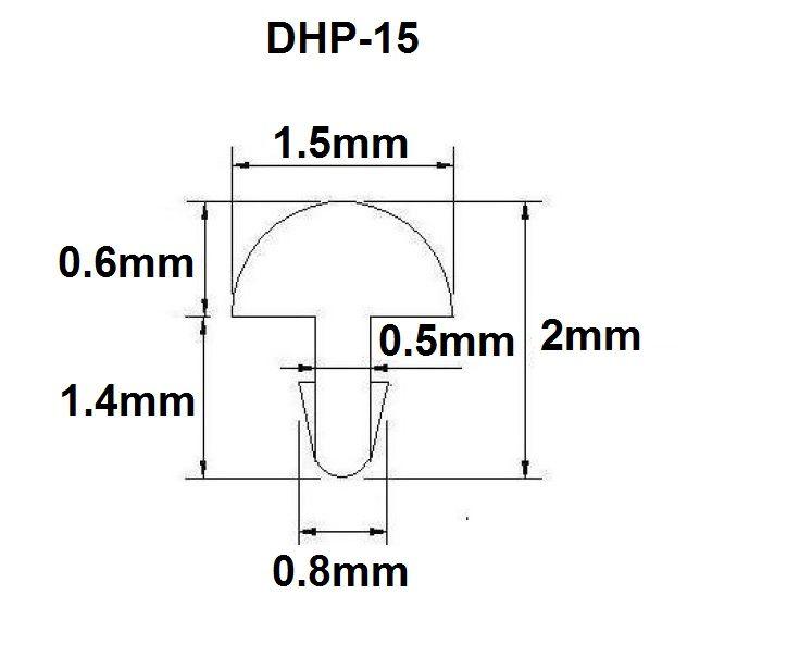 Traste DHP-15 fino para cavaco/banjo/bandolim - 0,6mm (altura) x 1,5mm (largura) - Rolo com 3 metros  - Luthieria Brasil